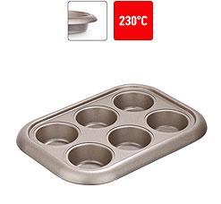 Форма для 6 маффинов, стальная, антипригарная, 29,4х21х3,5 см Nadoba 761016формы для выпечки<br><br>