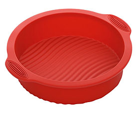 Форма для выпечки круглая, силиконовая, 28x25x6 см Nadoba 762011формы для выпечки<br><br>