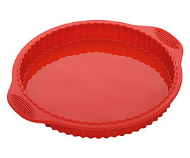 Форма круглая для пирога/пиццы, силиконовая, 32x28x3,3 см Nadoba 762018формы для выпечки<br><br>