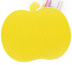 Силиконовый коврик в форме яблока 19 см Fissman 7121Кухонные аксессуары<br><br>