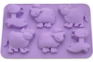 Форма для выпечки 6 кексов Лошадка, овечка, коровка 25 x 17 x 3 см Fissman 6649Выпечка<br><br>