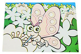 Коврик для рисования водой Бабочка 29 х 21 см Fissman 0644Кухонные аксессуары<br><br>