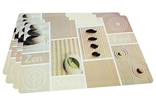 Комплект из 4-х сервировочных ковриков на обеденный стол 43,5 х 28,5 см Fissman 0652Кухонные аксессуары<br><br>