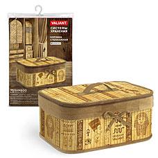 Корзина стеллажная с крышкой, складная, бамбук, 32x23x14 см, Egypt Valiant EG-BB-MТовары для гардероба<br><br>