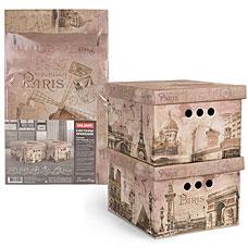 Короб картонный, складной, 25x33x18.5 см, набор 2 шт., Travelling Paris Valiant TR-BCTN-PR-2SТовары для гардероба<br><br>