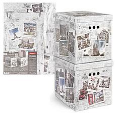 Короб картонный, складной, 28x38x31.5 см, набор 2 шт., Travelling Photos Valiant TR-BCTN-PH-2MТовары для гардероба<br><br>