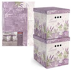 Короб картонный, складной, 28x38x31.5 см, набор 2 шт., Lavande Valiant LV-BCTN-2MТовары для гардероба<br><br>