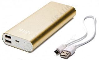 Аккумулятор внешний 10 000 mAh, золотой Bradex SU 0064Электроника<br><br>