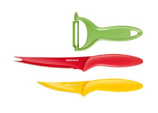 Ножи с неприлипающим лезвием и овощечистка Presto Tone, комплект 3 шт., Tescoma 863150Обработка продуктов<br><br>