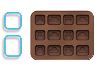 Формочки для шоколада Delicia Silicone, машинки, Tescoma 630961Выпечка<br><br>