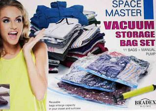 Набор вакуумных пакетов для хранения с насосом Спэйс МастерПолезные вещи для дома<br><br>