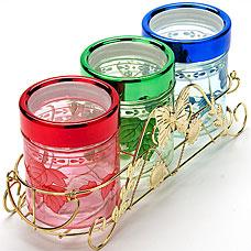 Набор стеклянных банок Super Kristal SK-3810Хранение продуктов<br><br>