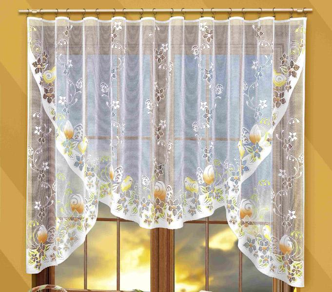 Тюлевые шторы на кухню