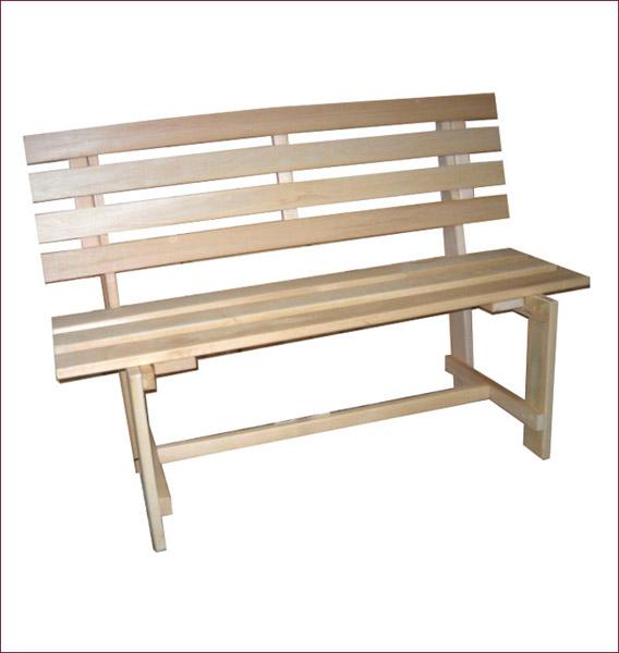 Как сделать скамейку со спинкой в баню своими руками